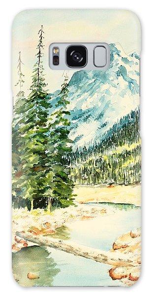Mountain Stream Galaxy Case by Pattie Calfy