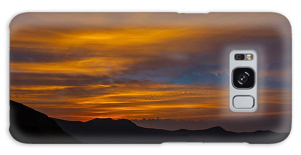 Mountain Sunset Galaxy Case by David Cote