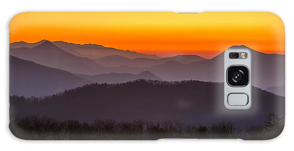 Mountain Sunset In Tennessee Galaxy Case