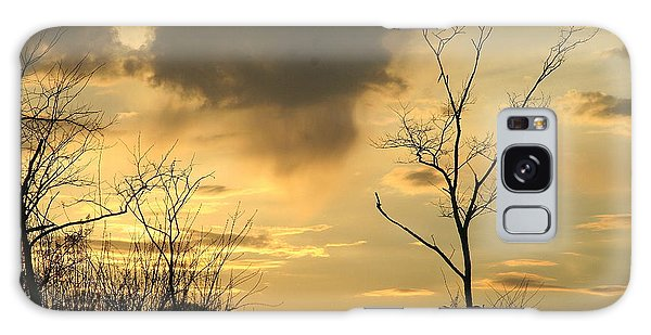 Mountain Sunset Three Galaxy Case by Paula Tohline Calhoun
