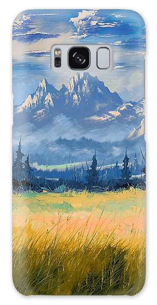Mountain Valley Galaxy Case by Richard Faulkner