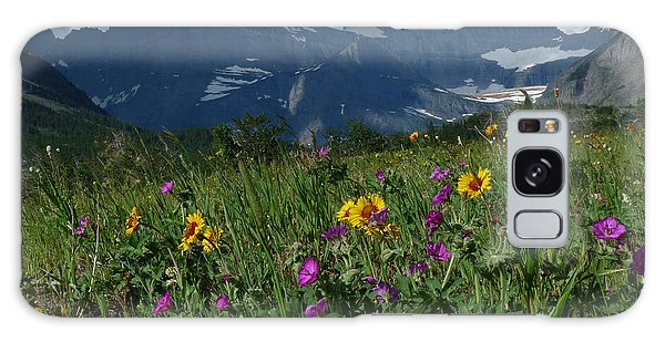 Mountain Wildflowers Galaxy Case by Alan Socolik