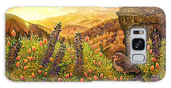Mountain Wildflowers Galaxy Case by Michael Frank