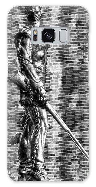Mountaineer Statue Bw Brick Background Galaxy Case by Dan Friend