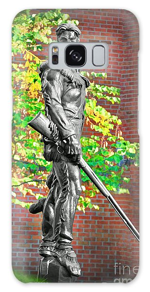 Galaxy Case featuring the photograph Mountaineer Statue by Dan Friend