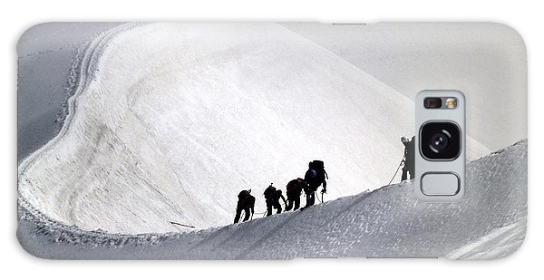 Mountaineers To Conquer Mont Blanc Galaxy Case