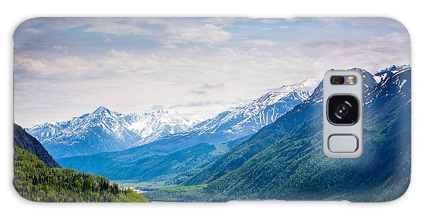Mountains Along Seward Highway Galaxy Case