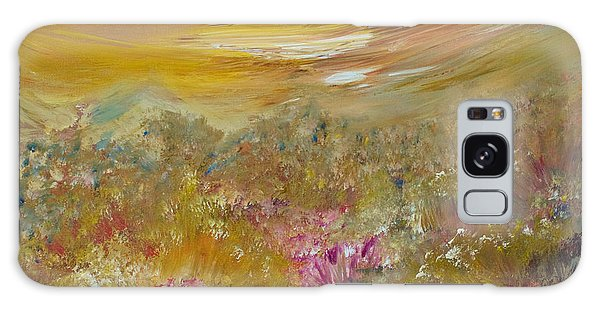 Mountains Of Wild Flowers Galaxy Case by Joanne Smoley