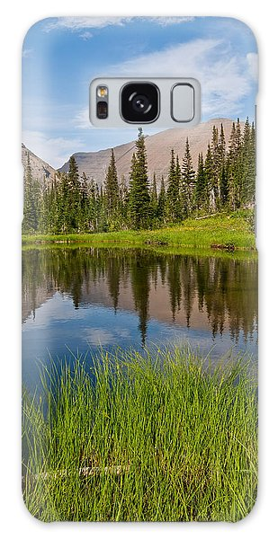 Mountains Reflected In An Alpine Lake Galaxy Case by Jeff Goulden