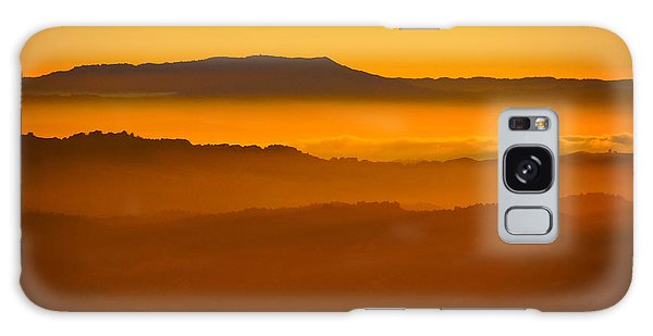 Mountaintop Sunset Galaxy Case