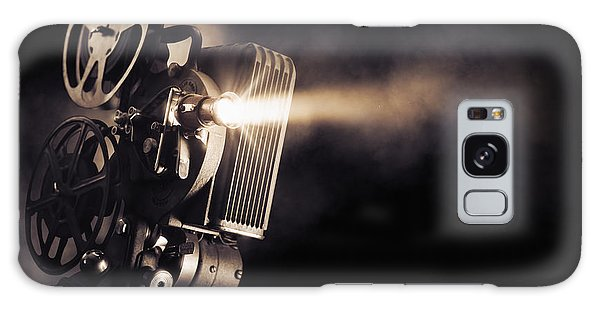 Technology Galaxy Case - Movie Projector On A Dark Background by Fer Gregory