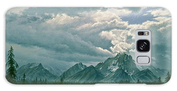 Teton Galaxy Case - Moving Clouds-mount Moran by Paul Krapf