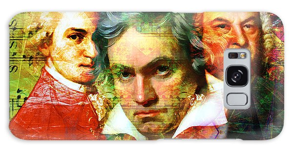 Galaxy Case featuring the photograph Mozart Beethoven Bach 20140128 by Wingsdomain Art and Photography