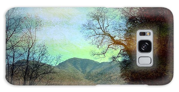 Mprints-smokey Mountain Memories Galaxy Case by M  Stuart