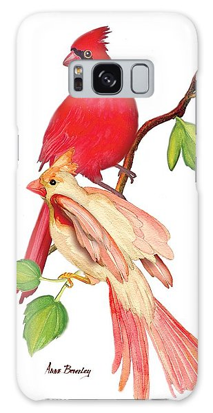 Mr. And Mrs. Cardinal Galaxy Case
