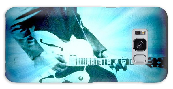 Mr Chuck Berry Blueberry Hill Style Edited Galaxy Case by Kelly Awad