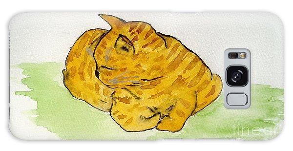 Mr. Yellow Galaxy Case by Reina Resto