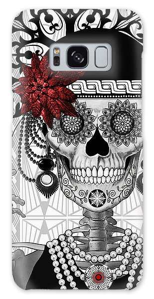 Mrs. Gloria Vanderbone - Day Of The Dead 1920's Flapper Girl Sugar Skull - Copyrighted Galaxy Case