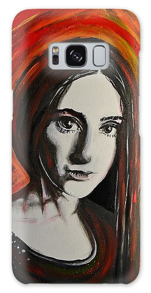 Portrait In Black #x Galaxy Case by Sandro Ramani