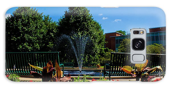 Msu Water Fountain Galaxy Case by John McGraw