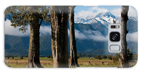 Mt Cook Through Trees Galaxy Case