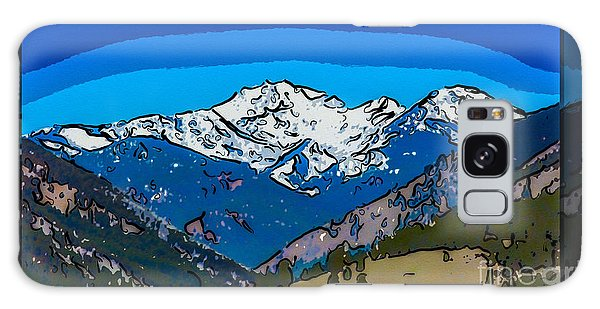 Mt Gardner In The Spring Abstract Painting  Galaxy Case