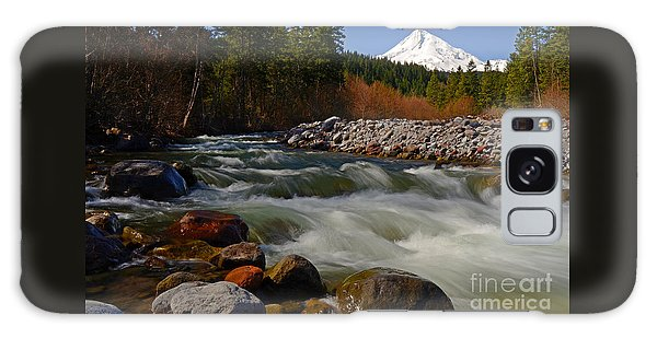 Mt. Hood Landscape Galaxy Case by Nick  Boren