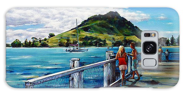 Mt Maunganui Pier 140114 Galaxy Case