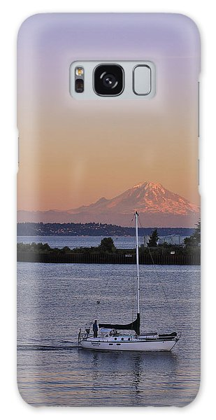 Mt. Rainier Afterglow Galaxy Case