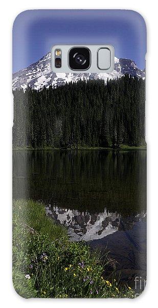 Mt Rainier From Reflection Lake Galaxy Case