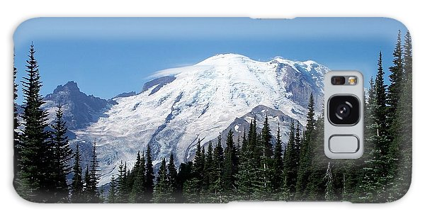 Mt. Rainier In August Galaxy Case by Chalet Roome-Rigdon
