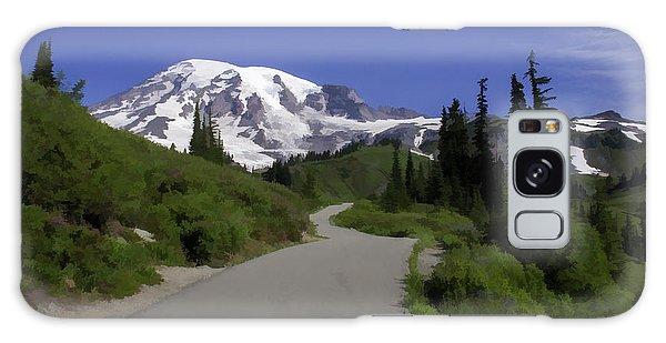 Mt Rainier Painted Galaxy Case