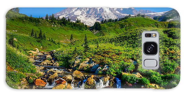 Mt. Rainier Stream Galaxy Case