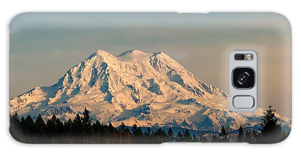 Mt Rainier Winter Panorama Galaxy Case
