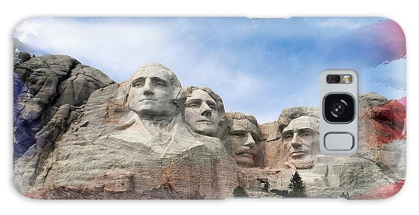 Mt Rushmore Flag Frame Galaxy Case
