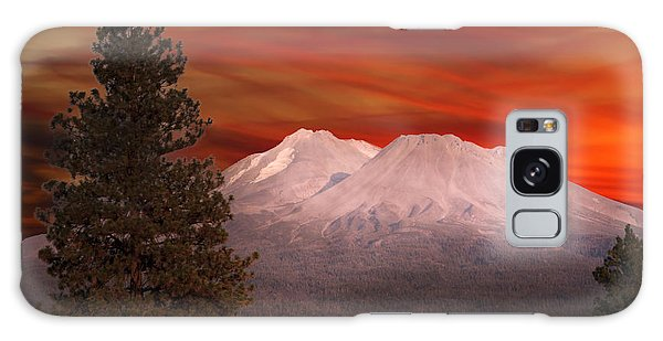 Mt Shasta Fire In The Sky Galaxy Case by Randall Branham