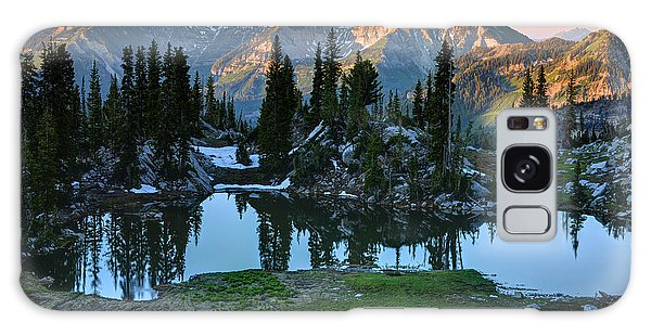 Mt. Timpanogos At Sunrise From Silver Glance Lake Galaxy Case