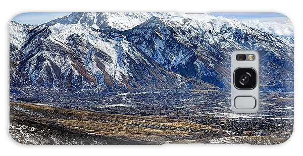 Mt. Timpanogos In Winter From Utah Valley Galaxy Case