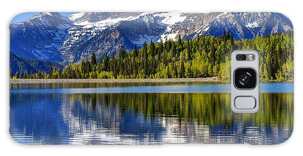 Mt. Timpanogos Reflected In Silver Flat Reservoir - Utah Galaxy Case