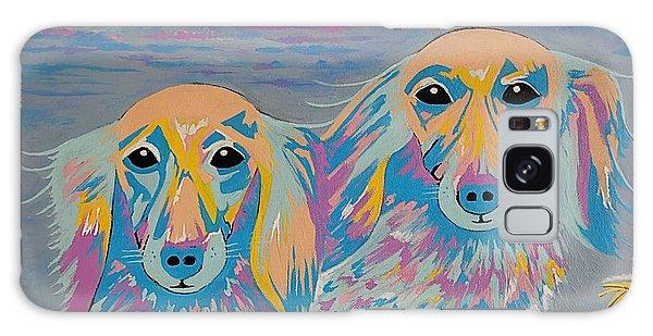 Mugi And Tatami - Contemporary Dachshunds Dog Art Galaxy Case