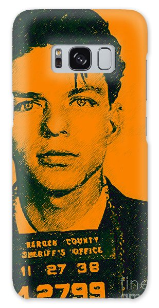 Galaxy Case featuring the photograph Mugshot Frank Sinatra V1 by Wingsdomain Art and Photography