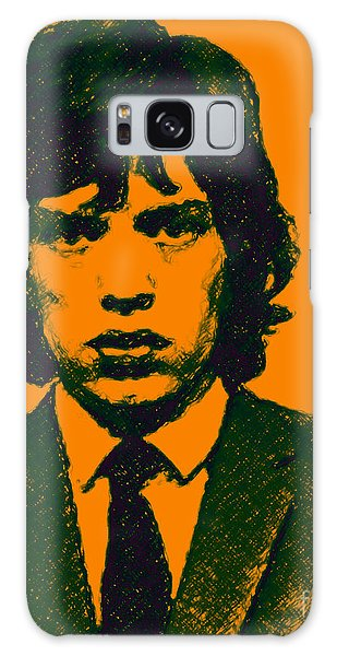 Galaxy Case featuring the photograph Mugshot Mick Jagger P0 by Wingsdomain Art and Photography