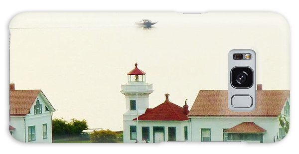 Mukilteo Lighthouse And The Lone Speedboat Galaxy Case by Ann Michelle Swadener