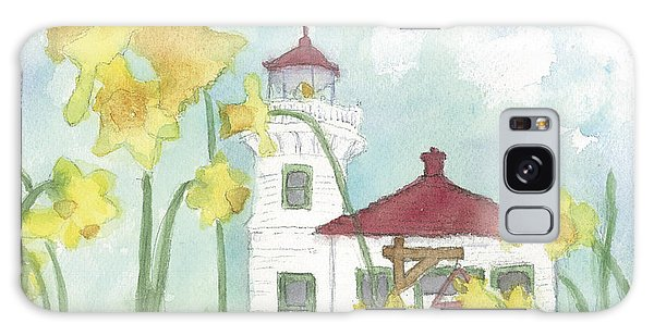 Mukilteo Lighthouse From A Different Perspective Galaxy Case by Ann Michelle Swadener