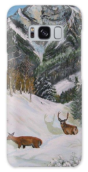 Mule Deer In Winter Galaxy Case