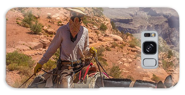 Mule Wrangler On The South Kaibab Trail Galaxy Case