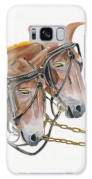 Mules - Two - Beast Of Burden Galaxy Case by Jan Dappen