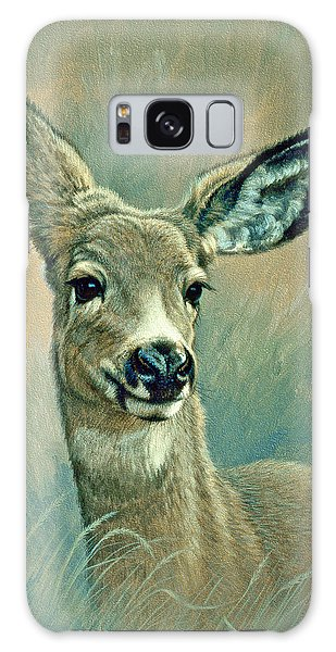 Deer Galaxy S8 Case - Muley Fawn At Six Months by Paul Krapf