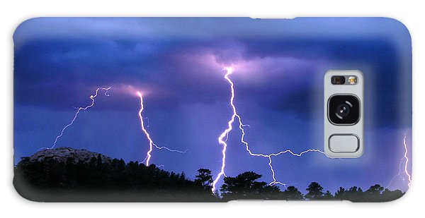 Multi Arc Lightning Strike Galaxy Case by Craig T Burgwardt