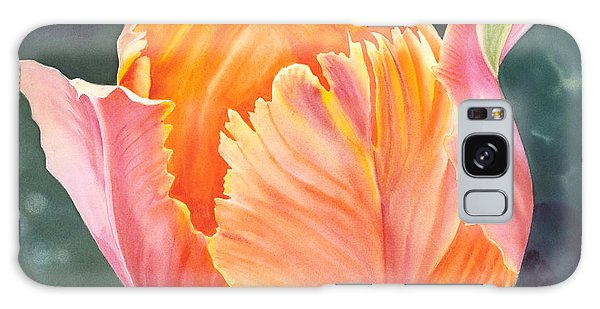 Multicolored Tulip - Transparent Watercolor Galaxy Case